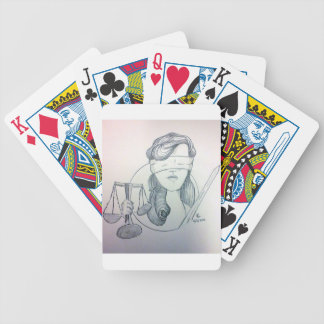 Justice Bicycle Playing Cards