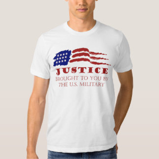 JUSTICE  brought to you by the US Military Tshirts