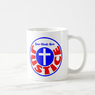 Justice Classic White Coffee Mug