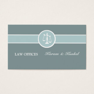 Justice Court Criminal Attorney Legal Scale Business Card