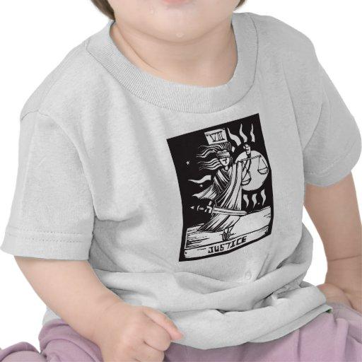 Justice de carte de tarot t-shirt