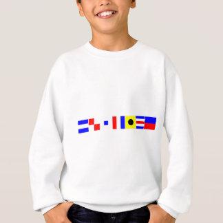 justice de drapeau de code sweatshirt
