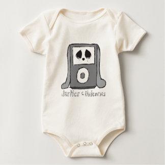 Justice de la chemise iBunny de bébé de licornes Bodies Pour Bébé