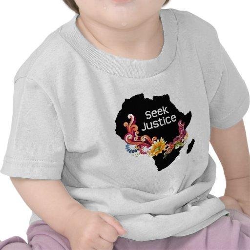 Justice de recherche t-shirts