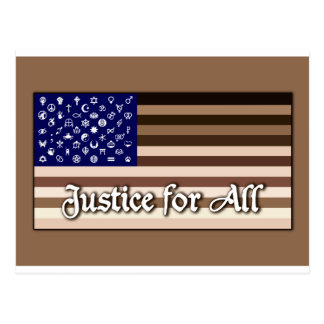 Justice for All Flag Postcard