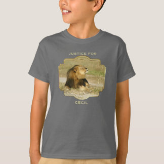 Justice for Cecil the Lion Killed in Africa T-Shirt