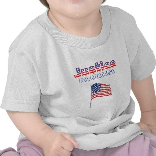 Justice for Congress Patriotic American Flag Tshirts