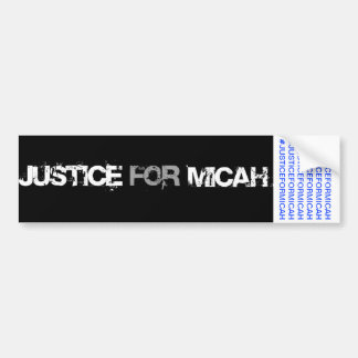 JUSTICE FOR MICAH BUMPER STICKER