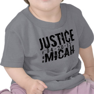JUSTICE FOR MICAH KIDS T-SHIRT