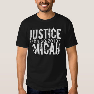 JUSTICE FOR MICAH T-SHIRT MEDIUM