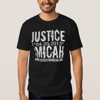 JUSTICE FOR MICAH WEB ADDRESS T-SHIRT