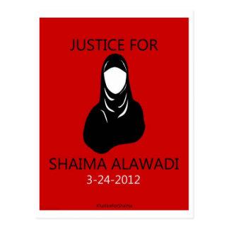 Justice for Shaima Alawadi Postcard