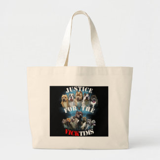 Justice For Vicktims Large Tote Bag