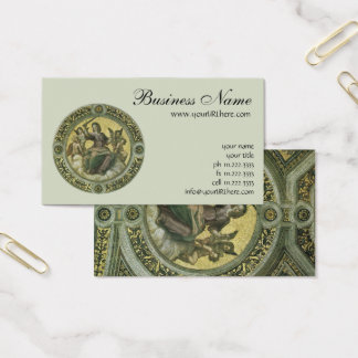 Justice (fresco in the Vatican) by Raphael Business Card