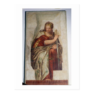 Justice, from the walls of the sacristy (fresco) postcard