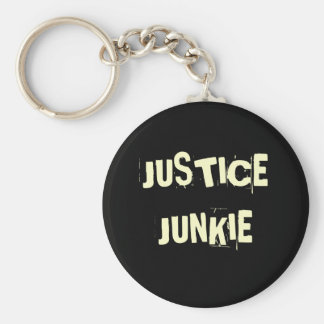 Justice Junkie - Funny Lawyer Nickname and Title Keychain