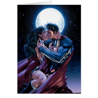 Justice League #12 Wonder Woman & Superman Kiss Card