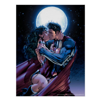 Justice League #12 Wonder Woman & Superman Kiss Poster