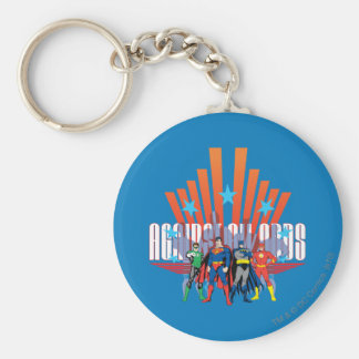 """Justice League """"Against All Odds"""" Basic Round Button Keychain"""