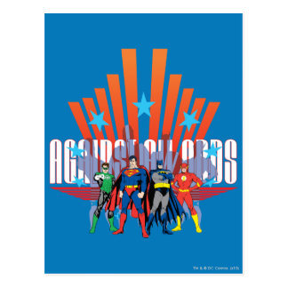 """Justice League """"Against All Odds"""" Postcard"""