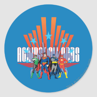"Justice League ""Against All Odds"" Round Sticker"