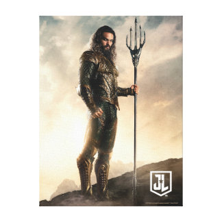 Justice League | Aquaman On Battlefield Canvas Print