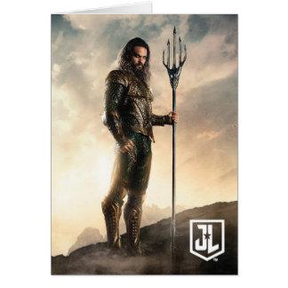 Justice League | Aquaman On Battlefield Card