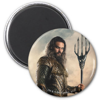 Justice League | Aquaman On Battlefield Magnet