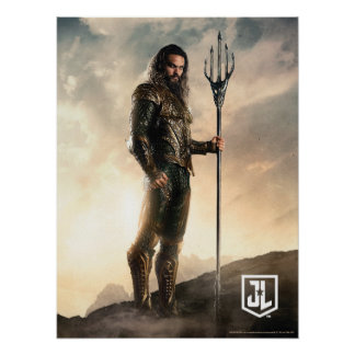 Justice League | Aquaman On Battlefield Poster
