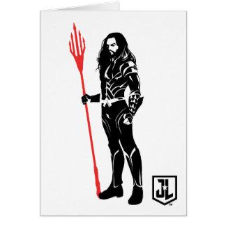 Justice League | Aquaman Pose Noir Pop Art Card
