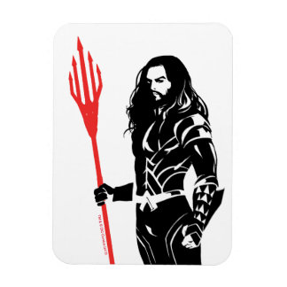 Justice League | Aquaman Pose Noir Pop Art Magnet