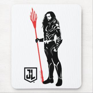 Justice League | Aquaman Pose Noir Pop Art Mouse Pad
