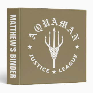 Justice League | Aquaman Retro Trident Emblem 3 Ring Binders