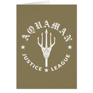 Justice League | Aquaman Retro Trident Emblem Card