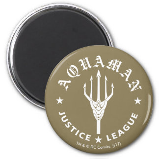 Justice League | Aquaman Retro Trident Emblem Magnet