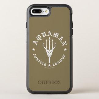 Justice League | Aquaman Retro Trident Emblem OtterBox Symmetry iPhone 8 Plus/7 Plus Case