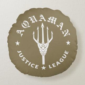 Justice League | Aquaman Retro Trident Emblem Round Pillow