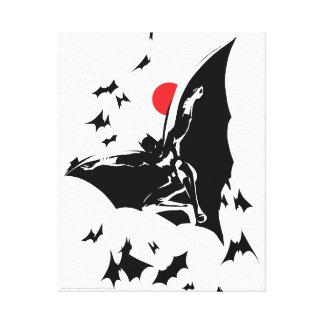 Justice League | Batman in Cloud of Bats Pop Art Canvas Print
