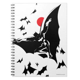Justice League   Batman in Cloud of Bats Pop Art Notebooks