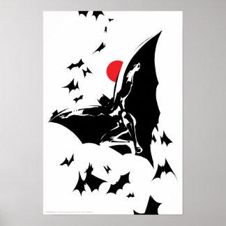 Justice League   Batman in Cloud of Bats Pop Art Poster