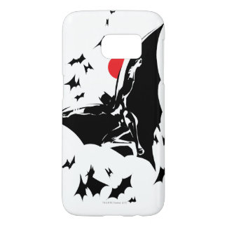 Justice League | Batman in Cloud of Bats Pop Art Samsung Galaxy S7 Case