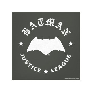 Justice League | Batman Retro Bat Emblem Canvas Print