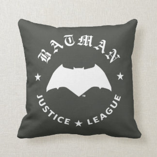 Justice League | Batman Retro Bat Emblem Throw Pillow