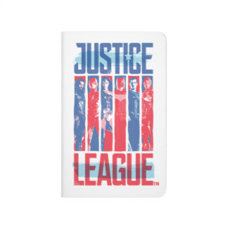 Justice League | Blue & Red Group Pop Art Journal