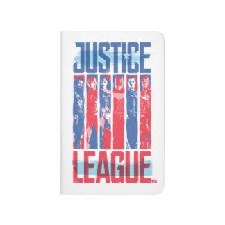 Justice League | Blue & Red Group Pop Art Journal