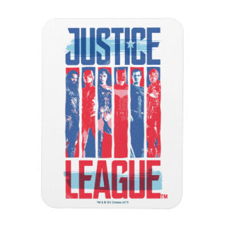 Justice League | Blue & Red Group Pop Art Magnet