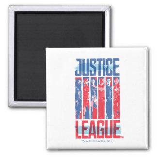 Justice League | Blue & Red Group Pop Art Magnet
