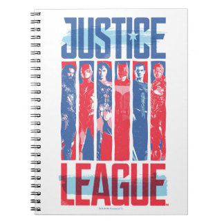Justice League | Blue & Red Group Pop Art Notebooks