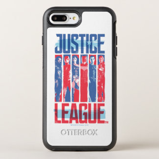 Justice League | Blue & Red Group Pop Art OtterBox Symmetry iPhone 8 Plus/7 Plus Case