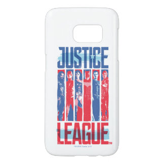 Justice League | Blue & Red Group Pop Art Samsung Galaxy S7 Case